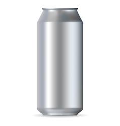 Realistic aluminum can vector