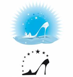 crystal slipper vector image