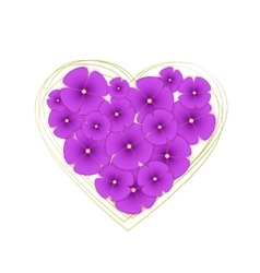 Flowers violets vector