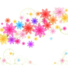Abstract spring vector
