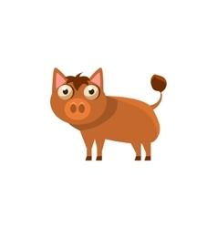 Boar Simplified Cute vector image vector image