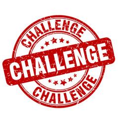 challenge stamp vector image vector image