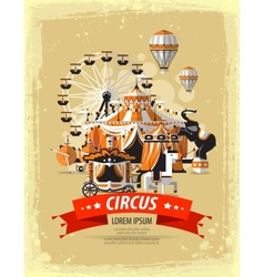 Circus fairground carnival vector