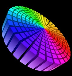 colorful graphic equalizer vector image