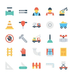 Construction colored icons 4 vector