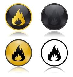 Danger Fire Risk warning signs vector image