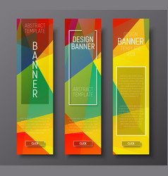 design vertical banners with polygonal vector image vector image