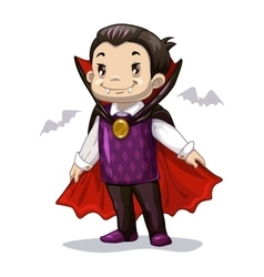 Funny cartoon little vampire vector