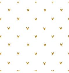 Golden glitter hearts pattern vector image vector image