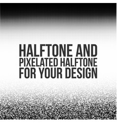 halftone anf pixelated halftone for your design vector image vector image