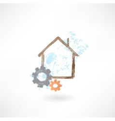 house repair grunge icon vector image