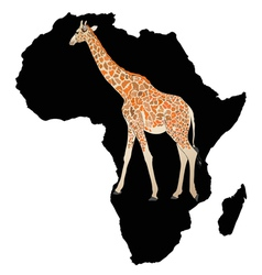 In the depths of black africa vector