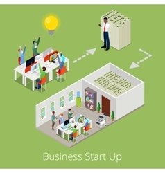 Isometric Business Start Up Creative Team vector image vector image