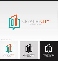 line building creative logo vector image
