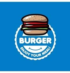 logo burger vector image
