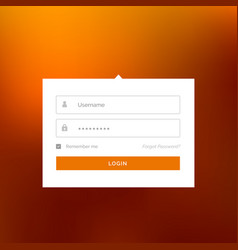 modern white login user interface form design vector image