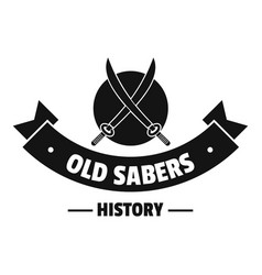 old saber logo simple black style vector image vector image