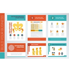 Osteoporosis report book cover and presentation vector image