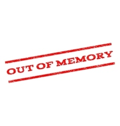 Out Of Memory Watermark Stamp vector image