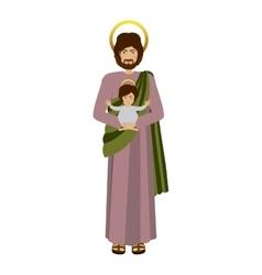 Picture saint joseph with baby jesus vector