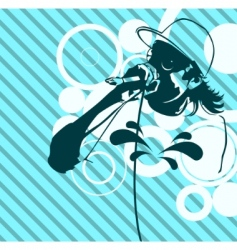 Rap music illustration vector