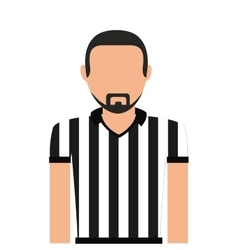 Referee man person icon vector