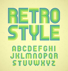 Retro style font vector image vector image
