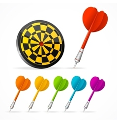 Set of colored Darts and target vector image
