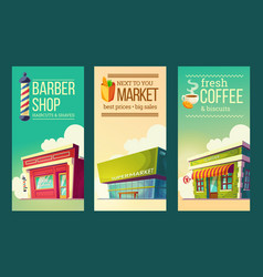 set vertical banners in retro style with vector image vector image