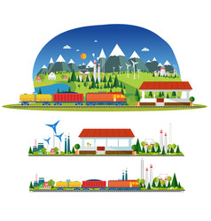 Train station and more transport vector