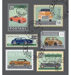 vintage style retro cars vector image vector image