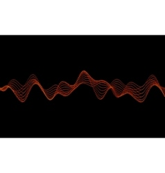 Waves with Particles vector image