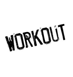 workout rubber stamp vector image vector image