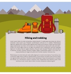 Hiking and trekking background vector