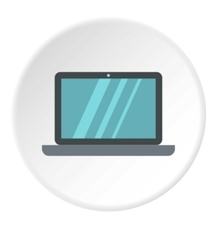 Laptop icon flat style vector