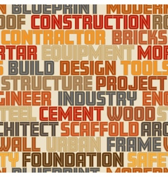 Construction words seamless tile vector image