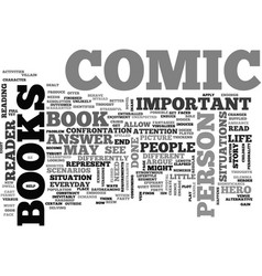 Why comic books are important text word cloud vector