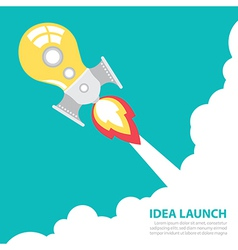 Idea rocket launch vector