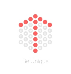 Be unique flat design concept vector