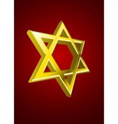 vector Jewish star vector image