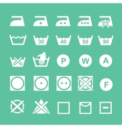 Set of washing symbols washing instruction vector