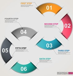 Business and communication inforgraphic template vector image