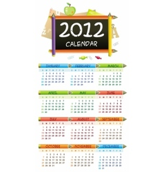 2012 educational calendar vector