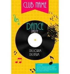 Vertical dance party flyer background with place vector