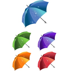 Set of colorful umbrellas vector