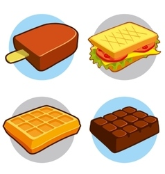 Dessert and fast food icon vector image
