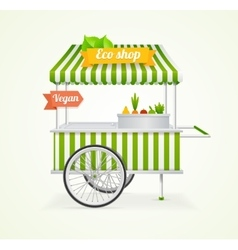 Vegetarian shop cart vector