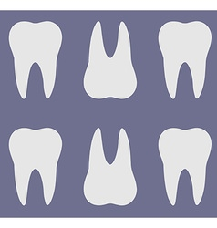 Teeth silhouette pattern vector
