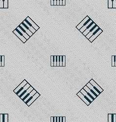 Piano key icon sign seamless pattern with vector