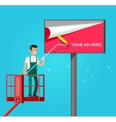 Blank billboard for new advertisement vector